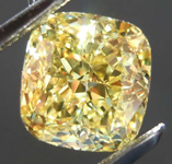 1.83ct Vivid Yellow VVS2 Cushion Cut Diamond R8135