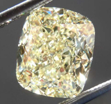SOLD....2.50ct Light Yellow VS2 Cushion Cut Diamond R8134