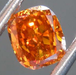 SOLD...0.52ct Orange SI1 Cushion Cut Diamond R8132