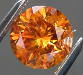 SOLD...1.23ct Orange SI2 Round Brilliant Diamond R8139