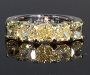 SOLD...2.77ctw Light Yellow SI Radiant Cut Diamond Ring 8111