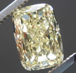 2.21ct Light Yellow VS1 Cushion Cut Diamond R8146