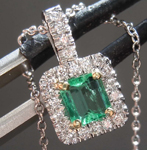 .32ct Emerald Cut Emerald Pendant R8108