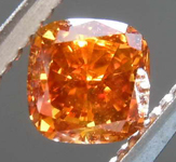 0.56ct Orange SI1 Cushion Cut Diamond R8145