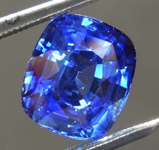 SOLD....3.05ct Blue Cushion Cut Sapphire Ring R8150