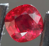 SOLD....1.37ct Cushion Cut Ruby R8154