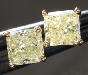 .99ctw Y-Z Radiant Cut Diamond Earrings R8114