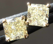 .90ctw W-X Radiant Cut Diamond Earrings R8113