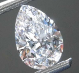 .68ct D VS2 Pear Shape Diamond R8166