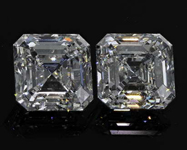 SOLD....2.40ct F VS2 Asscher Cut Diamond Earrings R8176