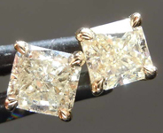 .90ctw Yellow Radiant Cut Diamond Earrings R8119