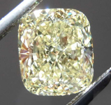 1.23ct Light Yellow VVS1 Cushion Cut Diamond R8190