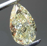 1.33ct Light Yellow VS2 Pear Shape Diamond R8191