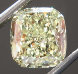 1.87ct Yellow SI2 Cushion Cut Diamond R8197