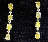 .92ctw Yellow Pear and Oval Diamond Earrings R8169