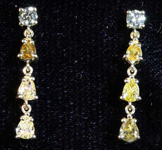 .71ctw Fancy Colored Round and Pear Diamond Earrings R8170