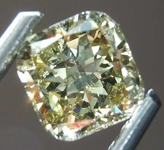 .70ct Greenish Yellow SI2 Cushion Cut Diamond R8185