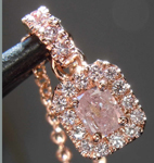 SOLD...0.40ctw Pink Radiant Cut Diamond Pendant R7752