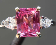 SOLD... 1.69ct Pink Radiant Cut Sapphire Ring R8131