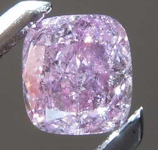 SOLD.....26ct Purple Pink I2 Cushion Cut Diamond R8225