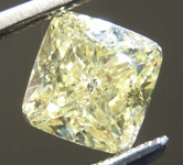 1.21ct Yellow I1 Cushion Cut Diamond R8224