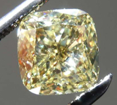 SOLD.....1.13ct Yellow SI2 Cushion Cut Diamond R8223