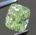 .52ct Fancy Green Yellow SI2 Cushion Cut Diamond R8246