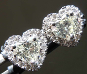 SOLD....0.81cts O-P VS Heart Shape Diamond Earrings R8188