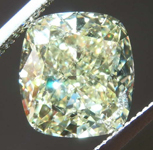 SOLD.....5.01ct Light Yellow VS1 Cushion Cut Diamond R8296