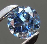 .23ct Intense Blue SI1 Round Brilliant Diamond R8309
