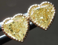 SOLD...2.05ctw Yellow Heart Shape Diamond Earrings R8279