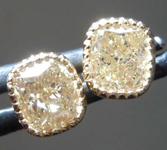 SOLD.... 1.20ctw Brownish Yellow VS2 Cushion Cut Diamond Earrings R8280