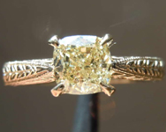 SOLD.....1.00ct Y-Z SI2 Cushion Cut Diamond Ring R8268