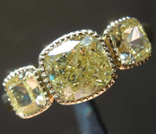 2.55ctw Yellow Cushion Cut Diamond Ring R8259