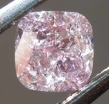 SOLD.....0.58ct Fancy Pink I2 Cushion Cut Diamond R8332