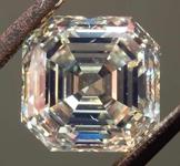 3.04ct Brownish Yellow VVS2 Asscher Cut Diamond R8330