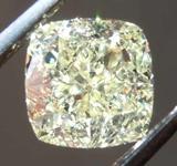 1.51ct Light Yellow SI1 Cushion Cut Diamond R8328