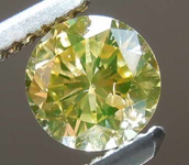 0.52ct Fancy Yellow I1 Round Brilliant Diamond R8079
