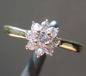 0.25ctw Pink VS Round Brilliant Diamond Ring R8276