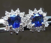 SOLD.....1.12cts Blue Cushion Cut Sapphire Earrings R8265