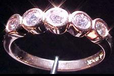 SOLD....Diamond Band- .28ctw Fancy Light Pink Diamond Ring Band R1370