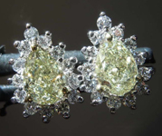 1.23cts Yellow Pear Shape Diamond Earrings R8256