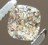 0.55ct W-X Light Brown SI1 Cushion Cut Diamond R8186