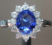 SOLD....1.09ct Blue Oval Shape Sapphire Ring R8264
