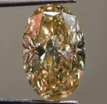 SOLD.....3.11ct Yellowish Brown I1 Oval Shape Diamond R8331