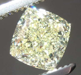 SOLD....1.25ct Light Yellow VVS1 Cushion Cut Diamond R8382