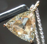 SOLD...0.77ct U-V VS1 Trilliant Diamond Pendant R8334