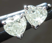 SOLD....1.04ctw N VS Heart Shape Diamond Earrings R8383