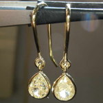 1.03ctw Light Yellow VS2 Pear Shape Diamond Earrings R8342