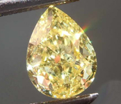 1.20ct Fancy Yellow SI1 Pear Shape Diamond R8403